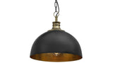 Hope Handcrafted Black and Gold Pendant Light