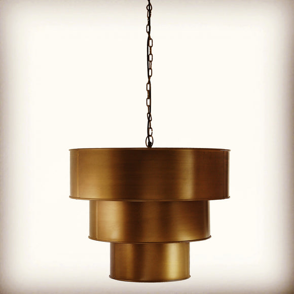Wardour Handcrafted Antique Brass Pendant Light