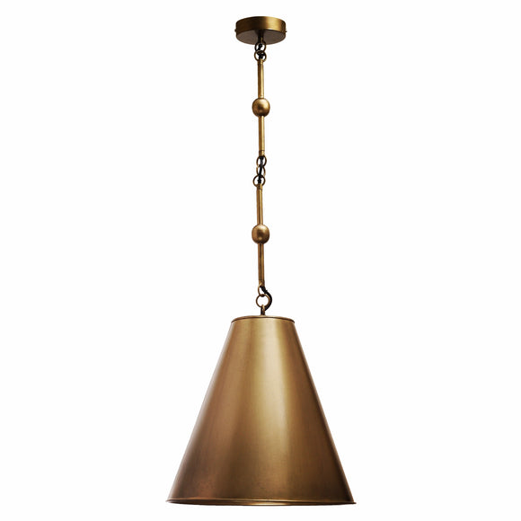 Bordeaux Handcrafted Antique Brass Pendant Light