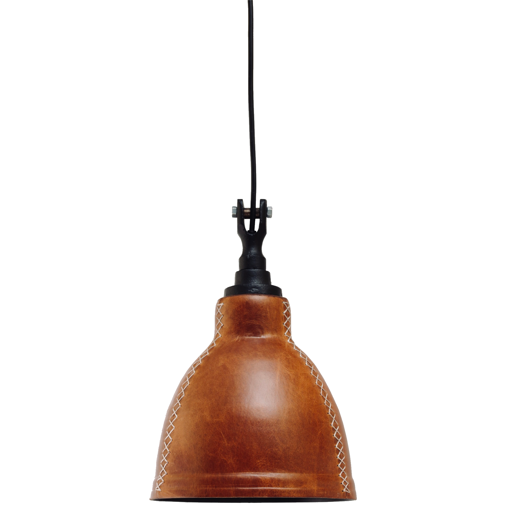 kitchen counter leather pendant light