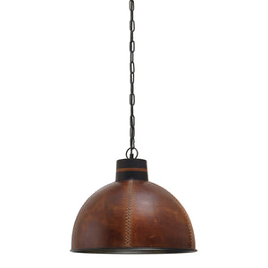 Hidesign Large Handcrafted Leather Pendant Light