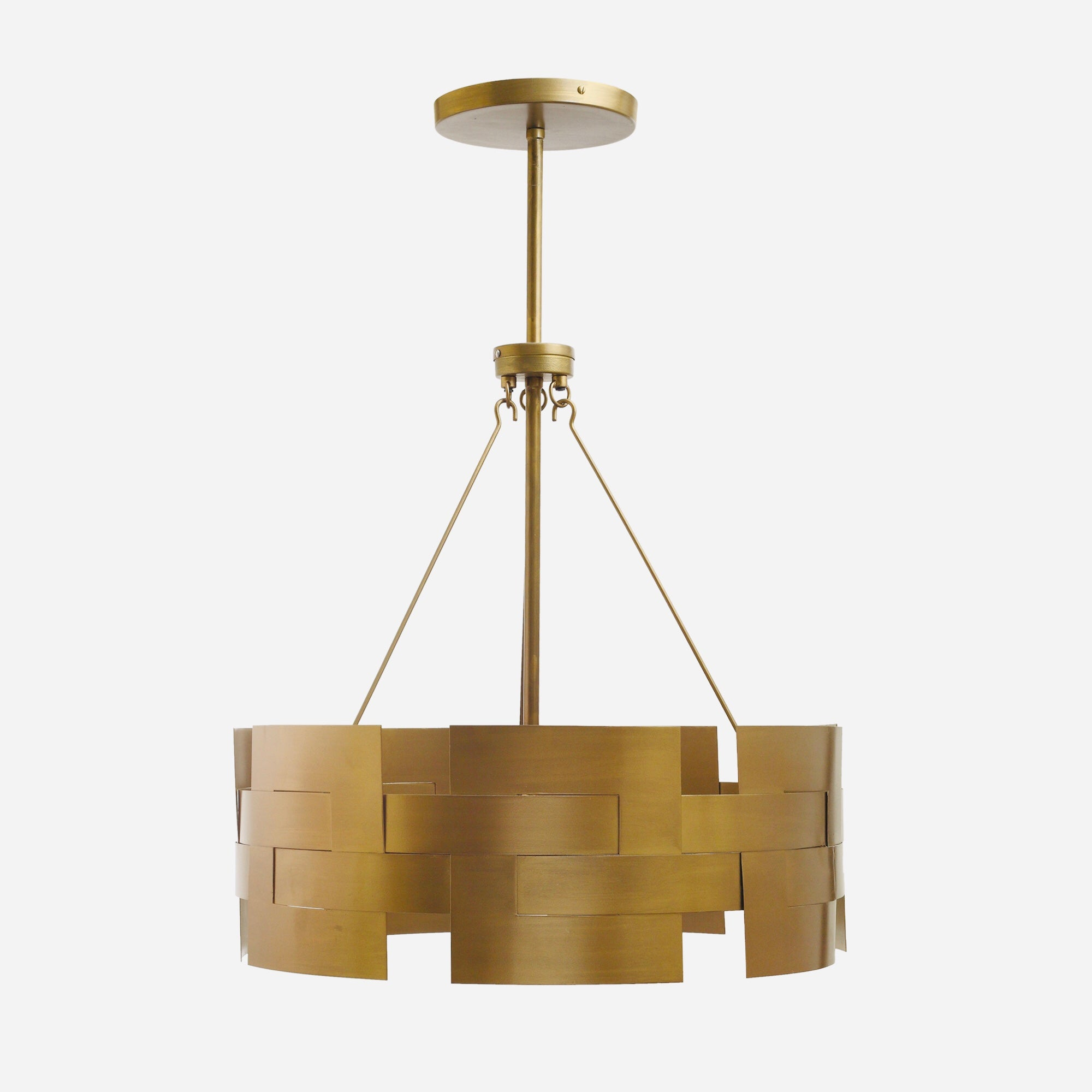 Dunand Handcrafted Antique Brass Pendant Light