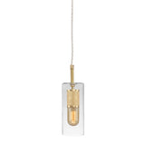 Brass & Blown Glass Pendant Light