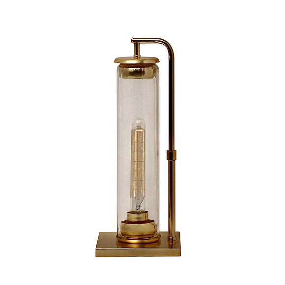 Barrington Solid Brass & Blown glass Table Lamp