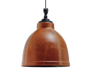 industrial leather pendant light cafe restaurant hotel