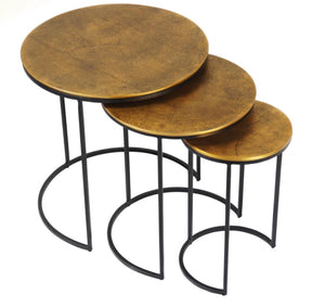Nested Tables Antique Brass Finish