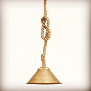 Seville Rope and Antique Brass Handcrafted Pendant Light