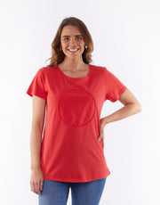 Dawn Spot Tee Poppy Red