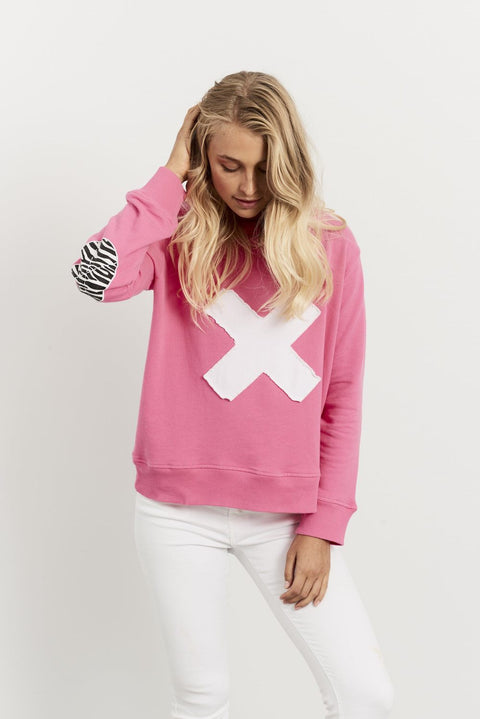 Zebra Cross Windy Hot Pink