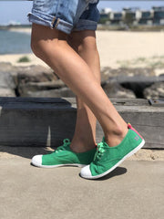 Washed Green Canvas Sneaker