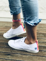 Washed White Canvas Sneaker