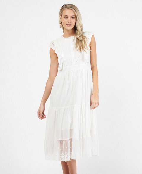 Boho Lace Dress White