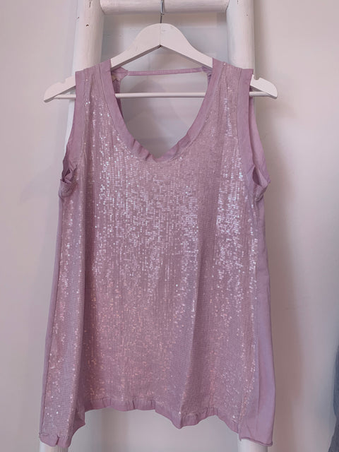 Sequin Top Lilac