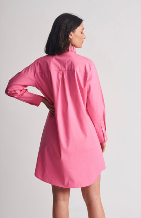 Shirty Shirtdress Hot Pink