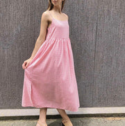 Pocket Maxi Pink Gingham