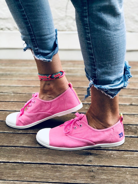 Washed Pink Canvas Sneaker