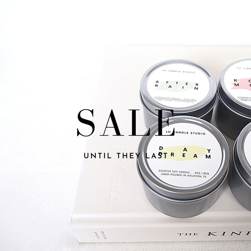 Sale: Travel tin candles - LH CANDLE STUDIO
