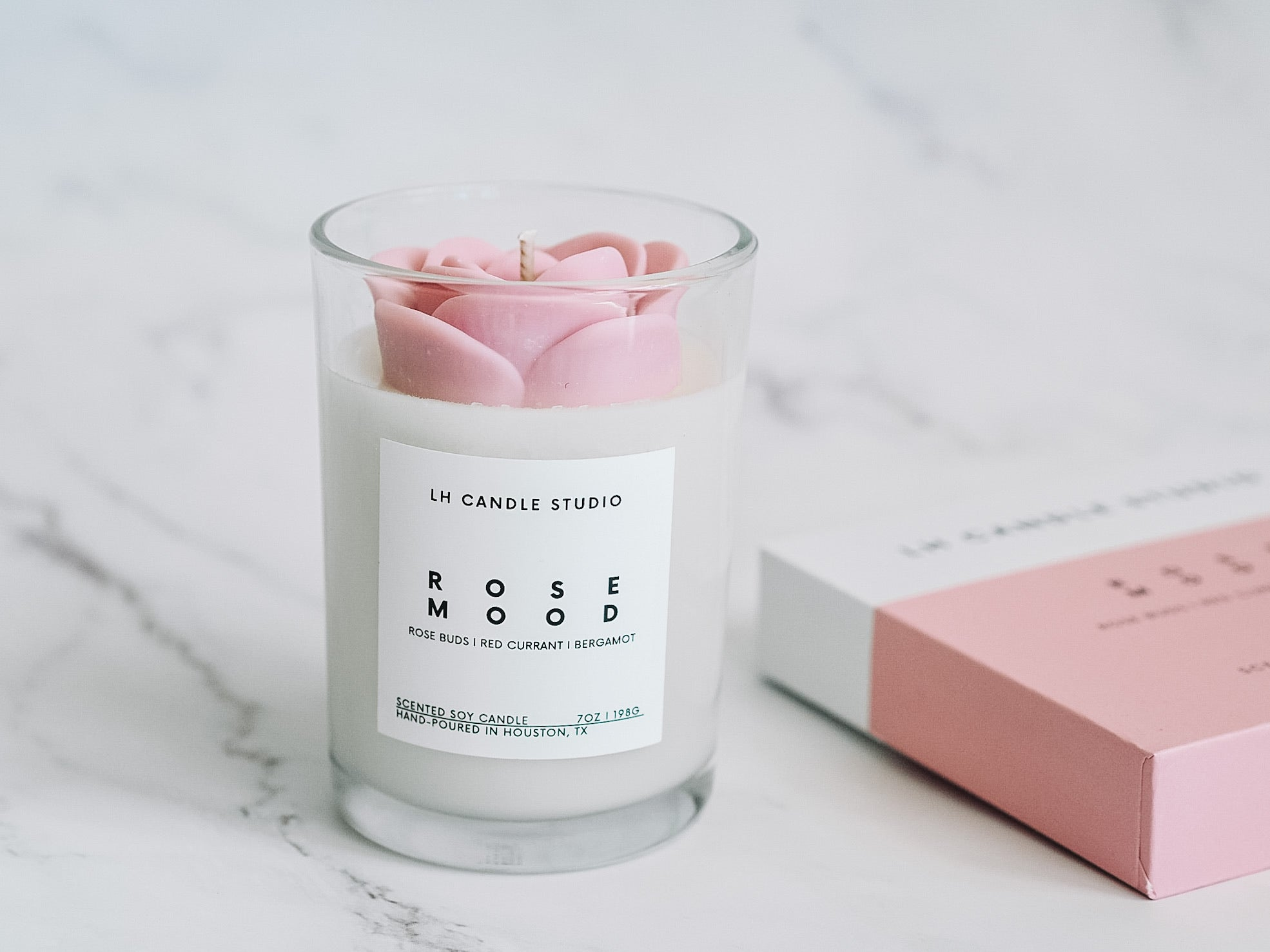 Rose Mood Candle - LH CANDLE STUDIO