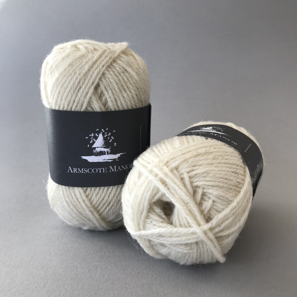 Armscote Manor PORTLAND WOOL - White 01 - Beautiful Knitters