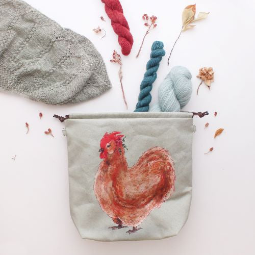 The Blue Rabbit House PROJECT BAG - Henrietta the Chicken - Beautiful Knitters