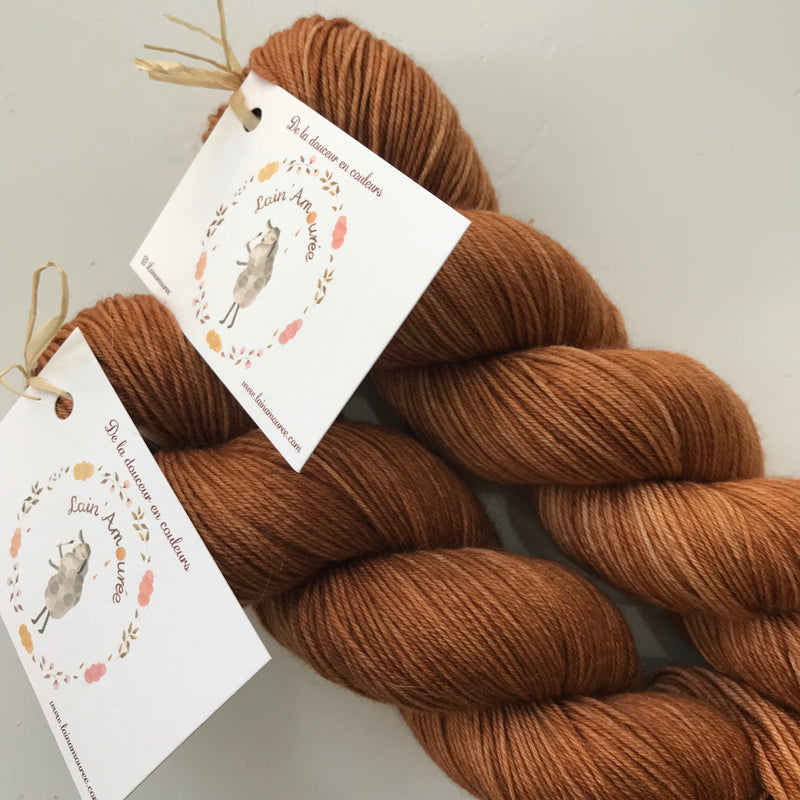 Lain' Amouree ATHENA - Caramel au beurre sale - Beautiful Knitters