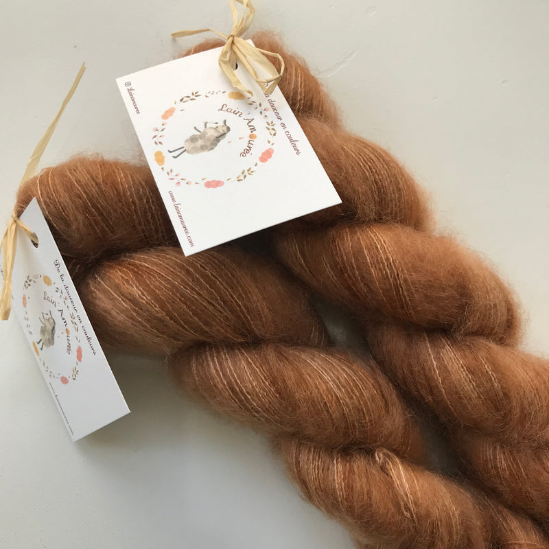 Lain' Amouree ORPHEE - Caramel au beurre sale - Beautiful Knitters