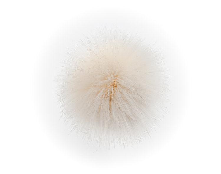 LovaFur POM-POM - Cream Fur - Beautiful Knitters