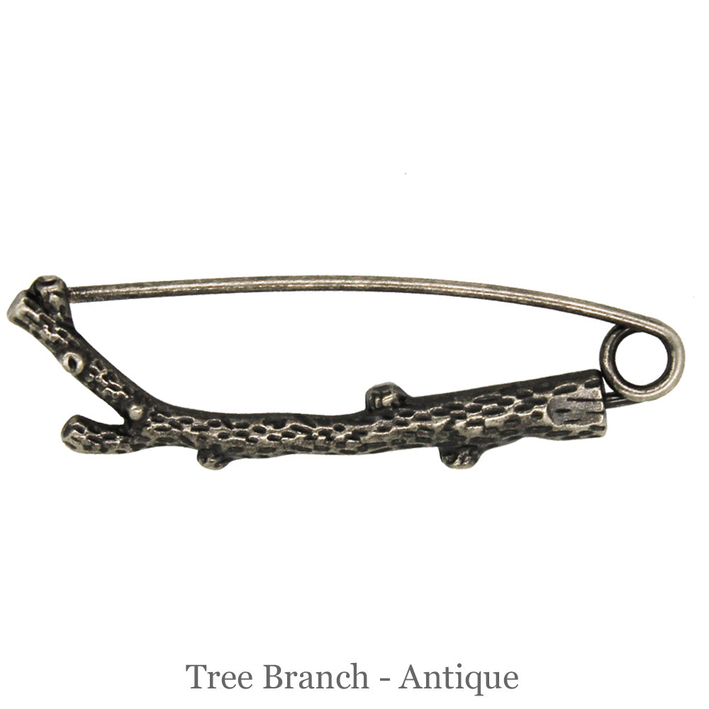 SHAWL PIN - Tree Branch - Antique - Beautiful Knitters