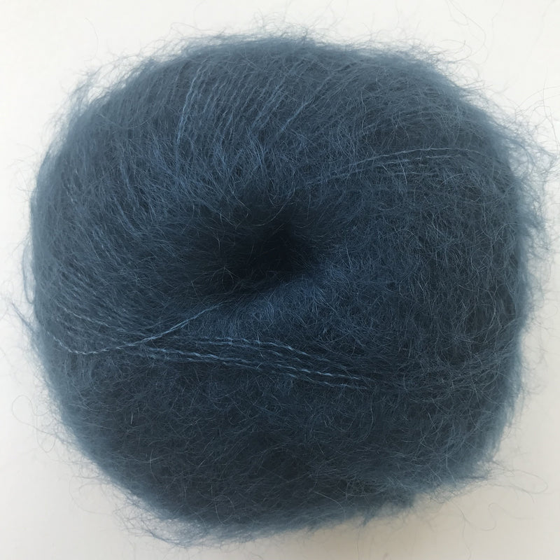 HjerteGarn SILK KID MOHAIR - 4324 Petrol Blue - Beautiful Knitters