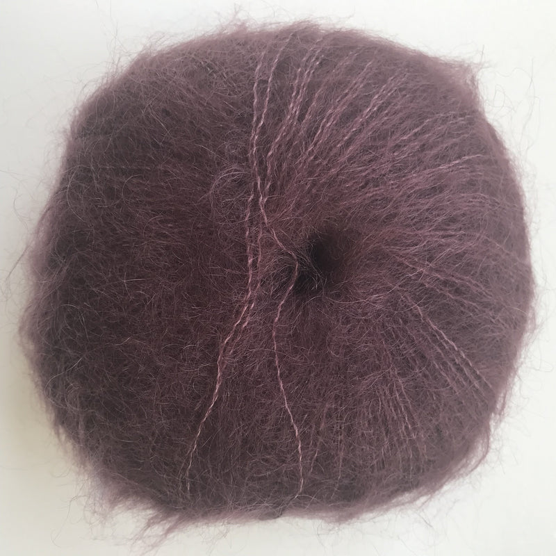 HjerteGarn SILK KID MOHAIR - 1617 Burgundy - Beautiful Knitters