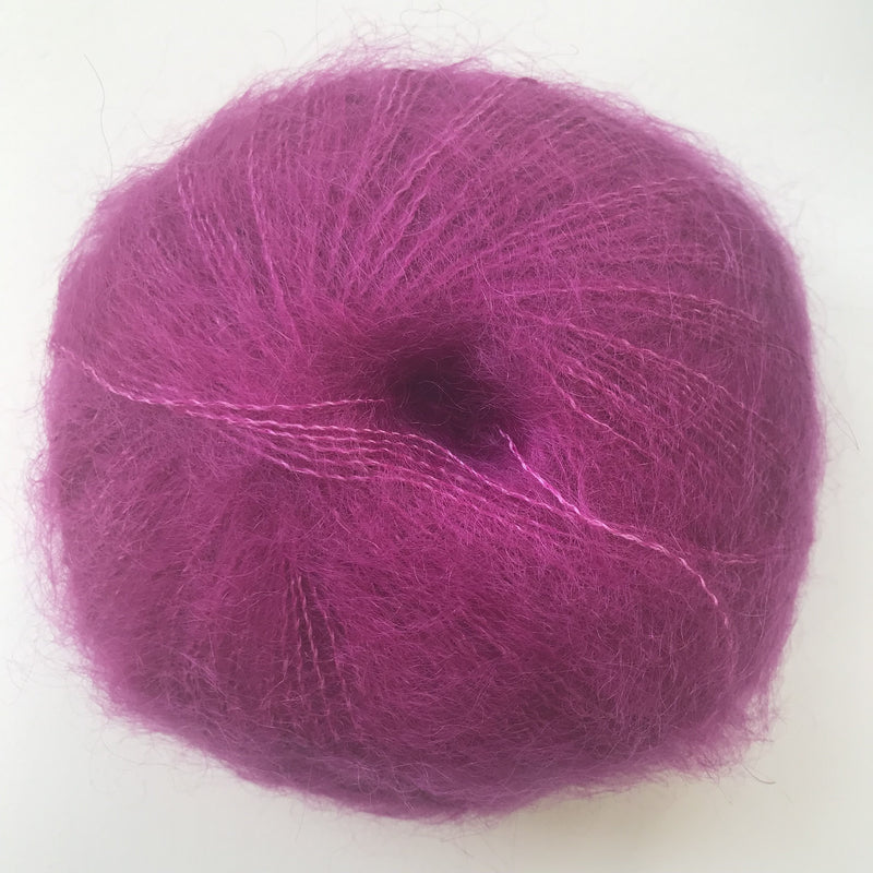HjerteGarn SILK KID MOHAIR - 1132 Fuchsia - Beautiful Knitters