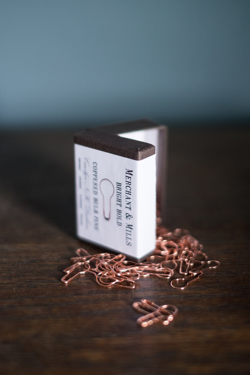 Merchant & Mills BULB PINS - Coppered - Beautiful Knitters