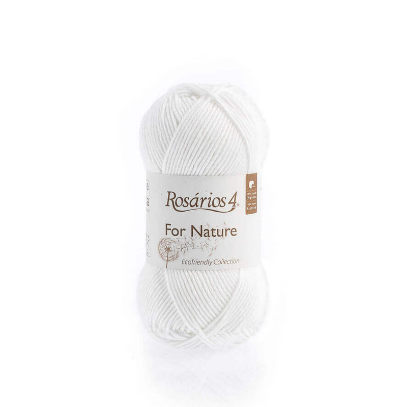 Rosarios4 FOR NATURE - 01 White - Beautiful Knitters
