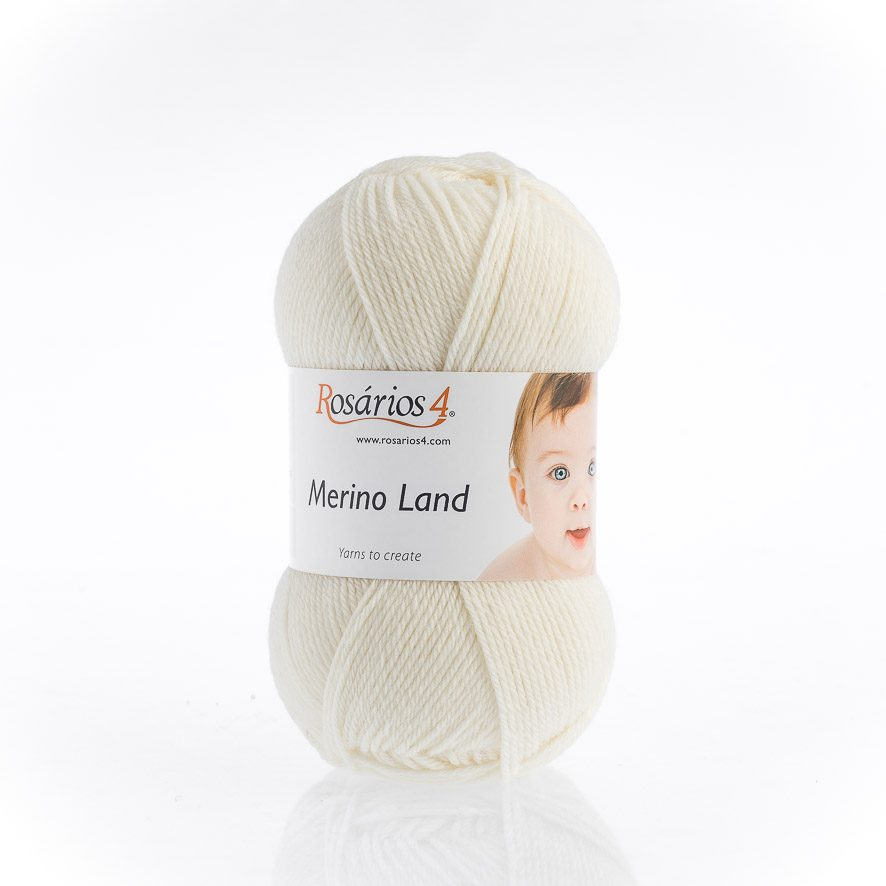 Rosarios4 MERINO LAND - 02 White - Beautiful Knitters