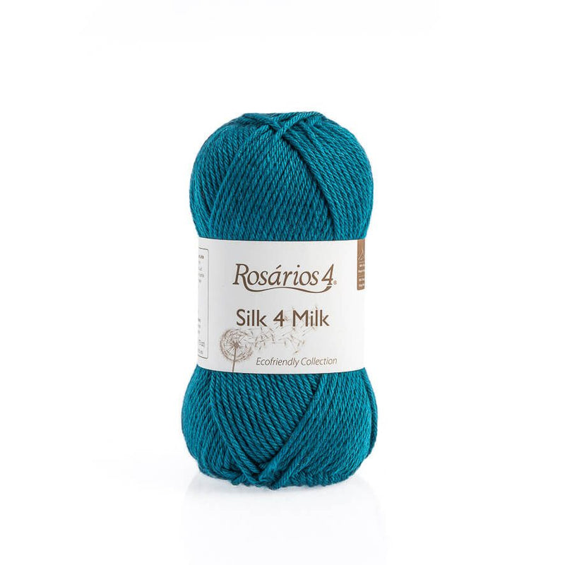 Rosarios4 SILK 4 MILK - 25 Petrol Blue - Beautiful Knitters