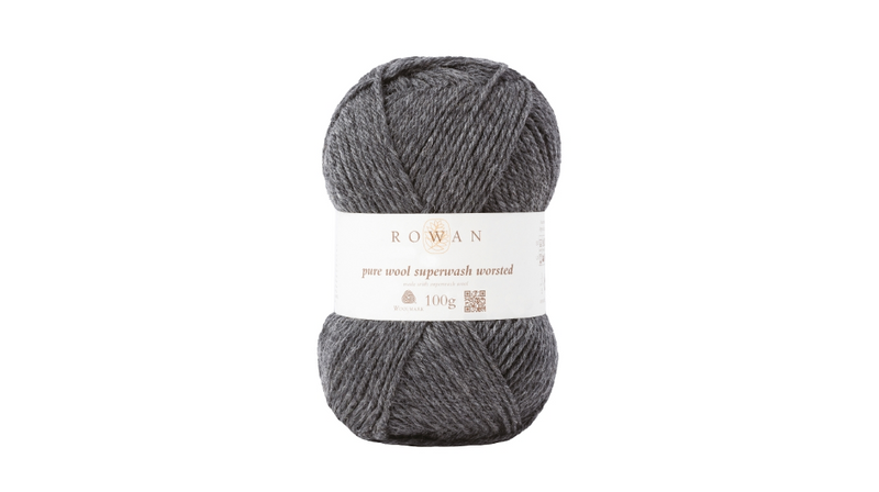 Rowan PURE WOOL SUPER-WASH WORSTED - 111 Granite - Beautiful Knitters