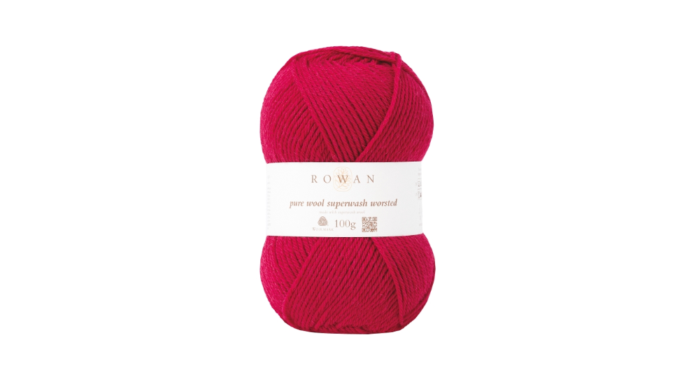 Rowan PURE WOOL SUPER-WASH WORSTED - 124 Rich Red - Beautiful Knitters