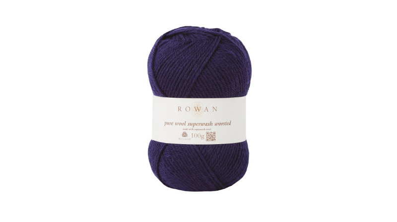Rowan PURE WOOL SUPER-WASH WORSTED - 149 Navy - Beautiful Knitters