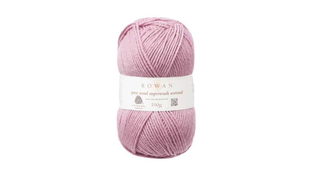 Rowan PURE WOOL SUPER-WASH WORSTED - 191 Mauve Mist - Beautiful Knitters