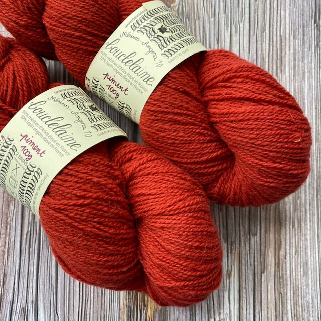 Bouclelaine MERINO ANGORA - Piment - Beautiful Knitters