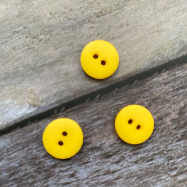 Hjertegarn BUTTON 13 mm - 01 Yellow - Beautiful Knitters