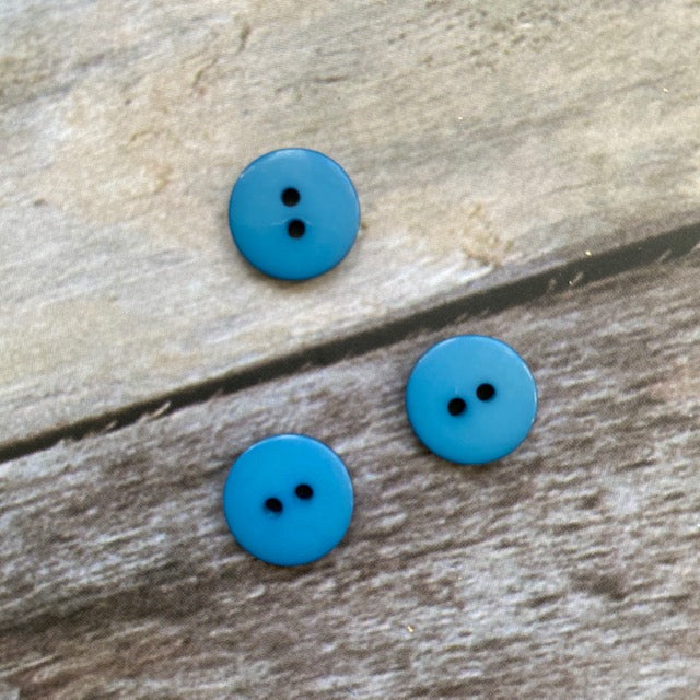 Hjertegarn BUTTON 13 mm - 73 Turquoise - Beautiful Knitters