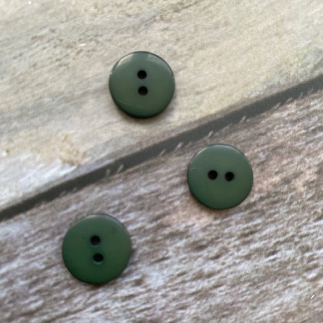 Hjertegarn BUTTON 13 mm - 81 Dark Green - Beautiful Knitters