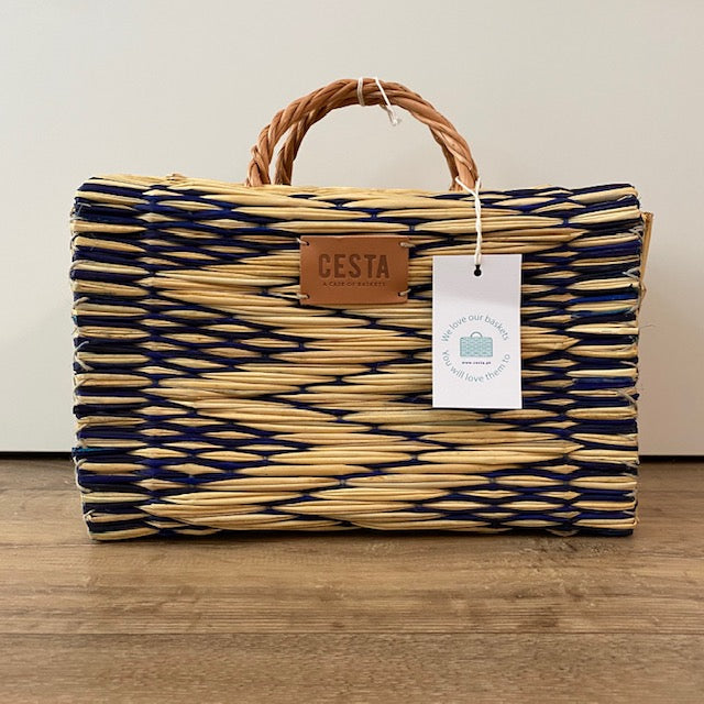 Cesta PEERIE MAKER Project Basket - Blue - Beautiful Knitters