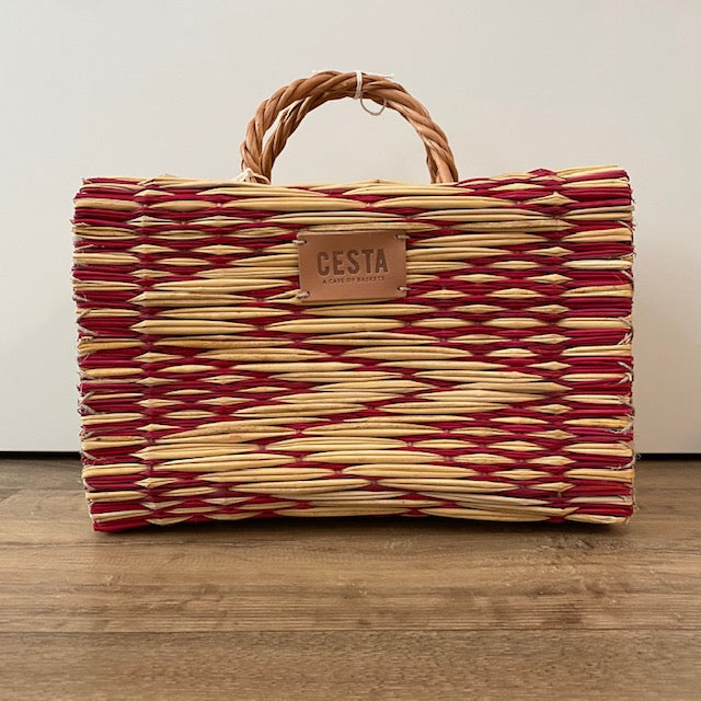 Cesta PEERIE MAKER Project Basket - Red - Beautiful Knitters