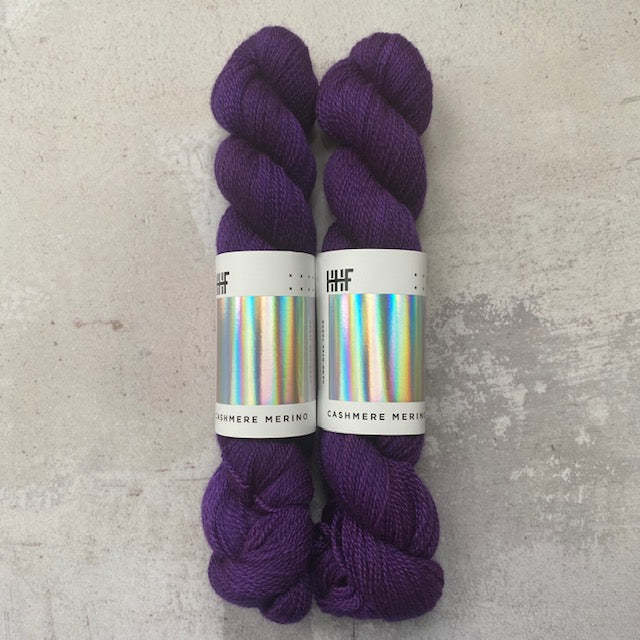 HHF CASHMERE MERINO - Purple Reign - Beautiful Knitters