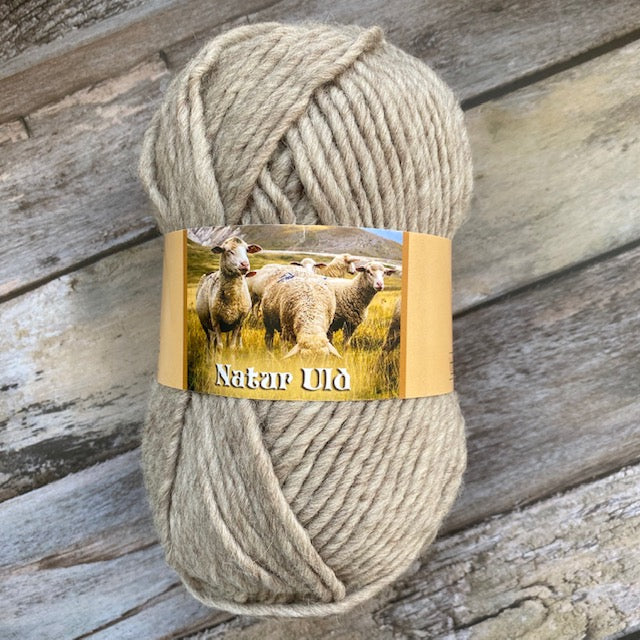 HjerteGarn NATUR ULD - 910 Brown - Beautiful Knitters
