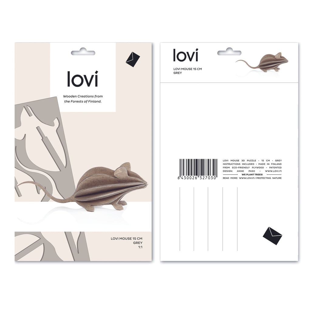 lovi MOUSE - Light Grey - Beautiful Knitters