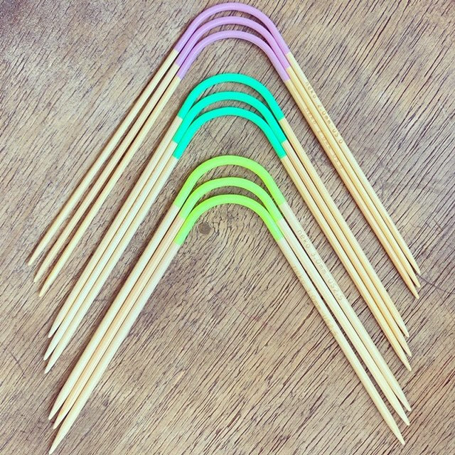 HiyaHiya 5' BAMBOO Double Pointed Needles