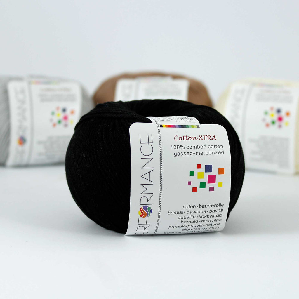 Performance COTTON EXTRA - 01 Black - Beautiful Knitters